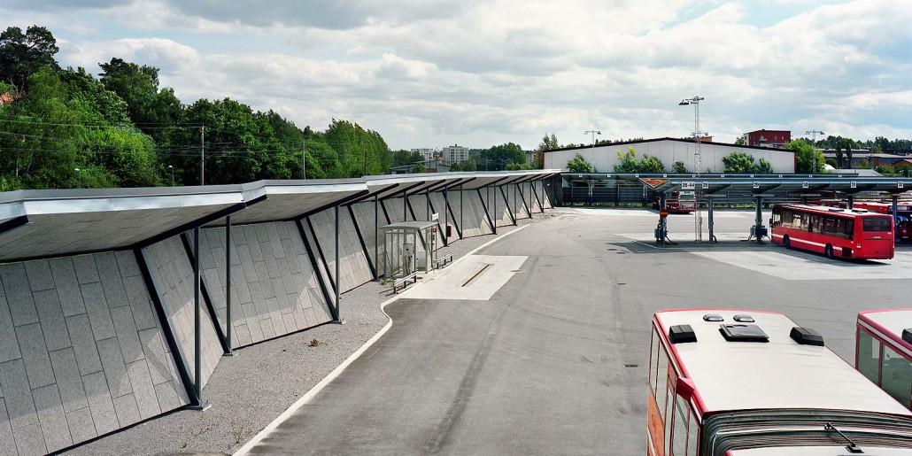 uppställningsplatser för buss i Lunda bussdepå