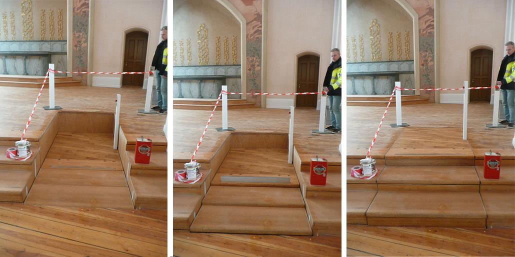 Tillgänglighetsanpassad trappa i sofiakyrkan, tillgänglighetsinventerad av BBH Arkitektur & Teknik
